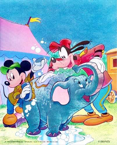 """Alubild mit 3-D Effekt """"Mickey Maus und Freunde"""""""