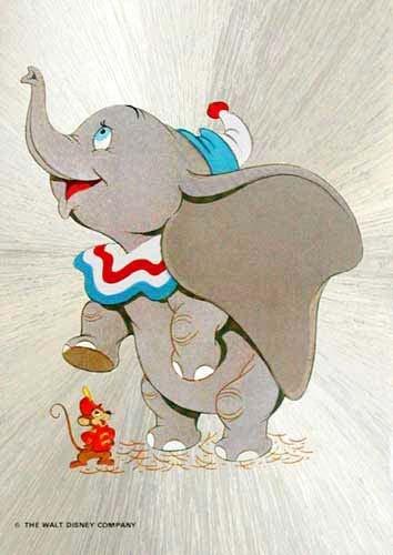 Dumbo, der fliegende Elefant Postkarte Bild