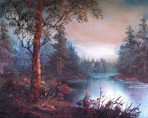 Landschaft, Peaceful Water