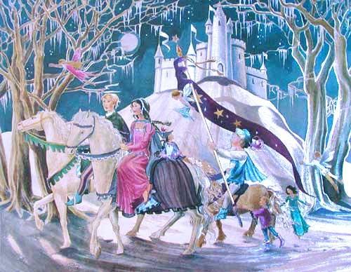 Schneekönigin, Kai und Gerda Alu Bild