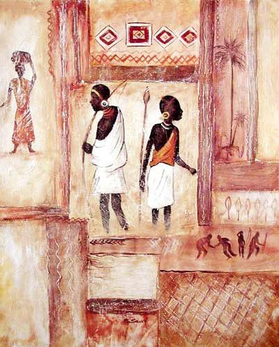 Afrika Männer Kunstdruck
