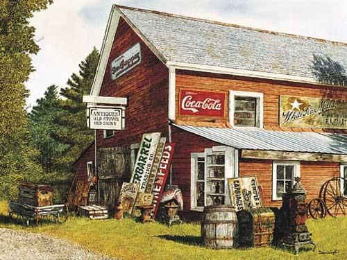 Haus mit alten Schilder Bild