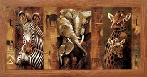 Elefanten, Giraffen, Zebras