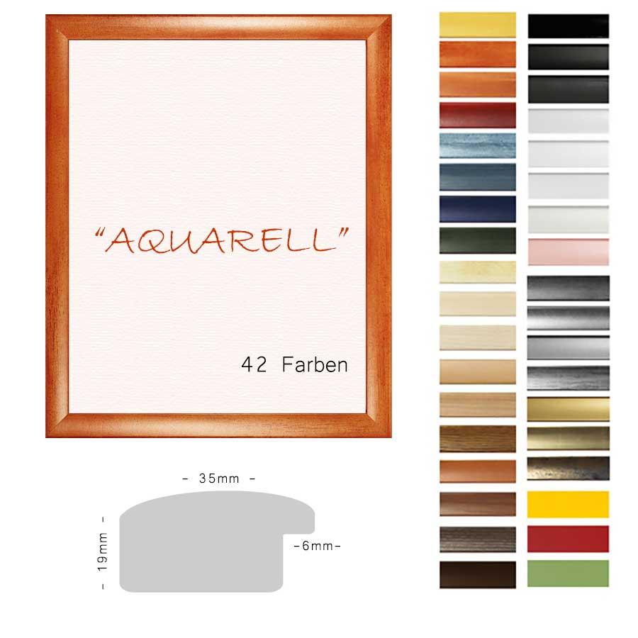 panorama bilderrahmen 40x120 120x40 cm aquarell. Black Bedroom Furniture Sets. Home Design Ideas