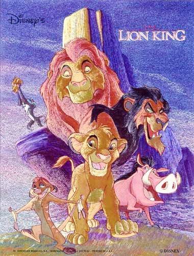 König der Löwen in violett Bild