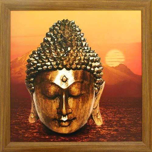 Buddha im Sonnenuntergang
