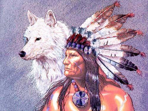 Chief und White Wolf by Gary Ampel *