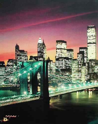 New York, Brooklyn Bridge (laminiert)