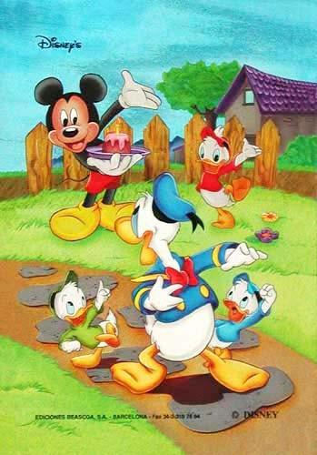 Micky Maus Donald Postkarte
