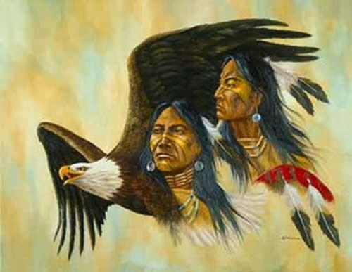 Indianer und Adler by Vogtschmidt