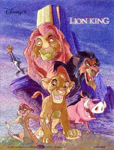König der Löwen mit lila Hintergrund- Alu Bild 21x26 cm