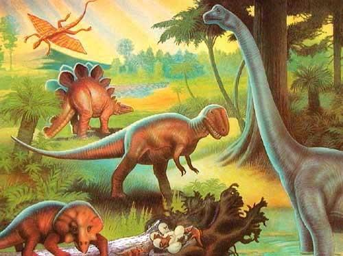 Dinosaurier Alu Bild