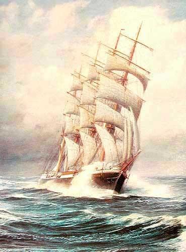 Segelschiff Pamir Alu Druck