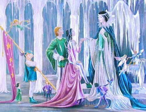 Die Schneekönigin begrüßt Gerda, Alubild
