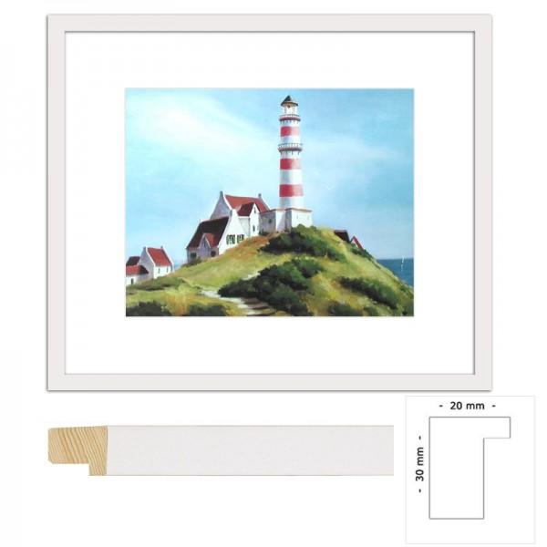 Wandbild rot-weißer Leuchtturm von Michelle