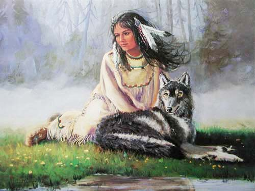 Maiden and Wolf by Marianne Caroselli