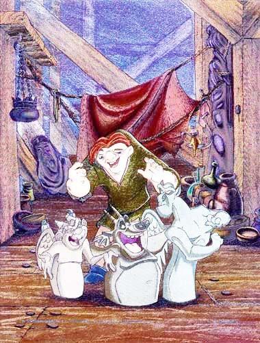 Alubild 16x21 cm: Glöckner von Notre- Dame Quasimodo