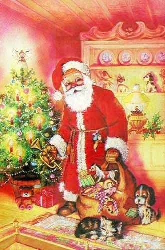 Weihnachtsmann, laminiert