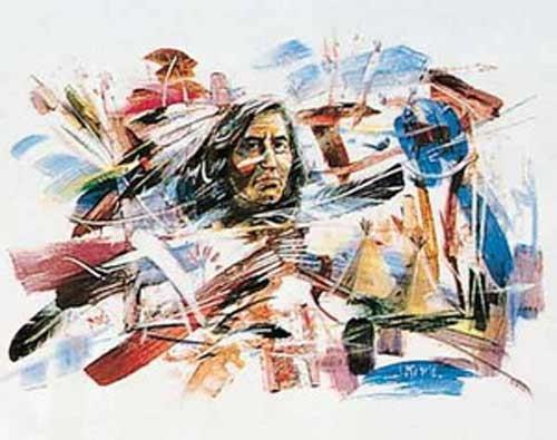 Indianer Abstrakt by J. Michelle