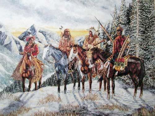 Indianer auf Pferde by Vogtschmidt