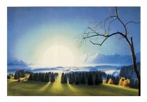 Kunstdruck 70x100 cm: Lichtung von Sahm Hans-Werner