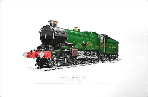 Dampflokomotive, Dampfeisenbahn Lithographie 40x50