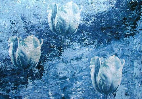 Tulpen in Blau
