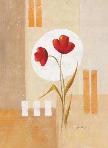 Rote Mohnblumen Abstrakt Kunstdruck
