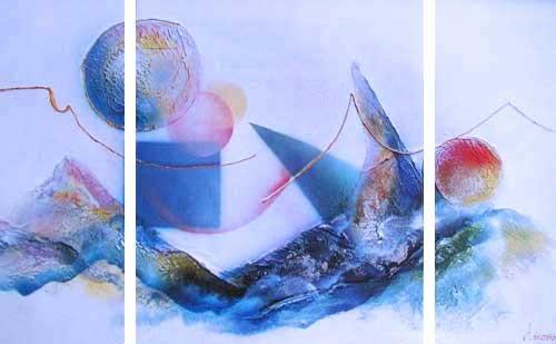 Abstraktes Bild- Triptychon
