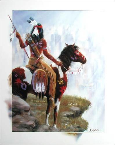 Indianer auf dem Pferd by S. Rachelle