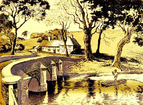 Bridge Over the River Gade gold