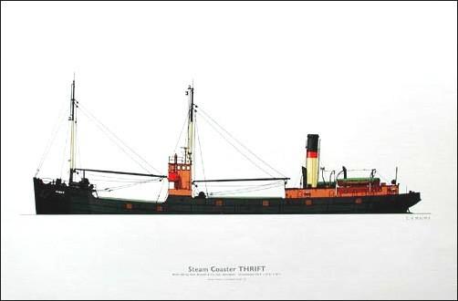 Dampfschiff Druck