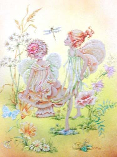 Blumenfeen Alu Effekt Bild