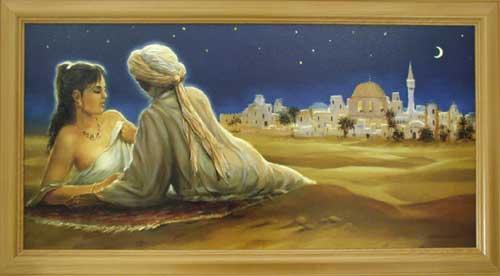 Wandbild tuareg liebespaar 1001 nacht 66x116 cm online kaufen - Wandbild orientalisch ...
