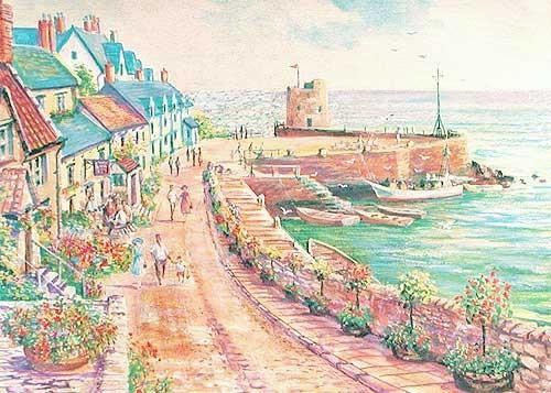 Hafenpromenade von Stuart, Alubild 16x21 cm