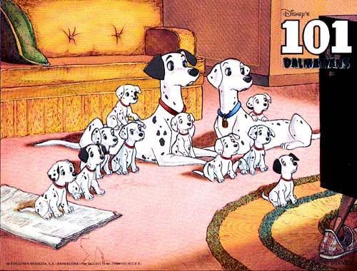 101 Dalmatiner Postkate