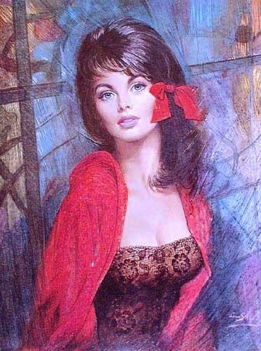 Frauenportrait by Louis Shabney