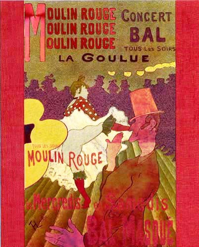 Moulin Rouge Alu Poster