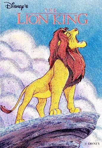 König der Löwen auf Felsvorsprung Postkarte
