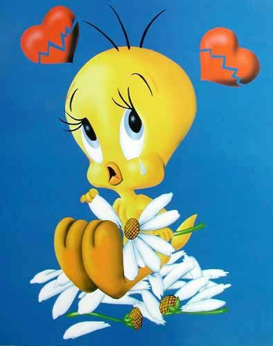 Tweety in Love Poster 40x50 cm