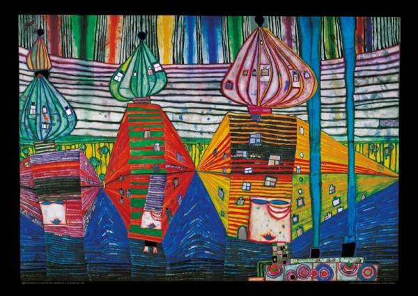 Resurrection of Architecture, Kunstdruck von Hundertwasser