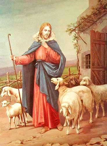 Jesus und Schafe