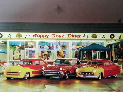 Oldtimer beim Happy Days Diner