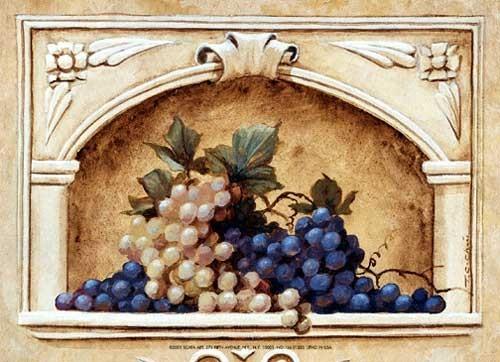 Komposition mit Weintrauben