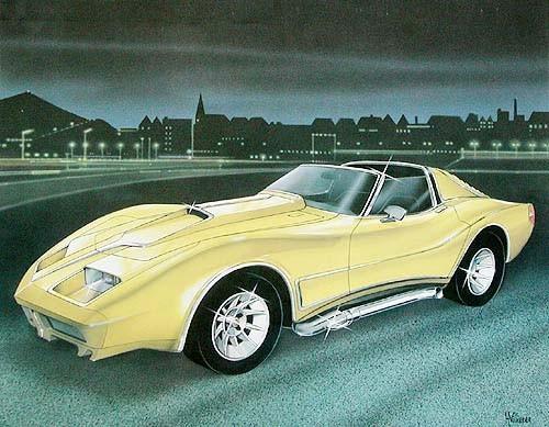 Corvette von Villieres Poster