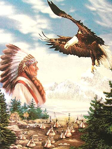 Indianer und Adler