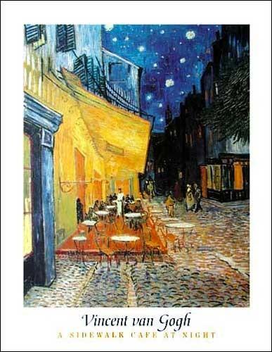 A Sidewalk Cafe at Night *