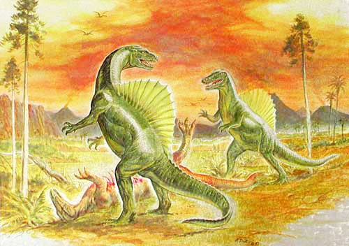 Spinosaurus Postkarte