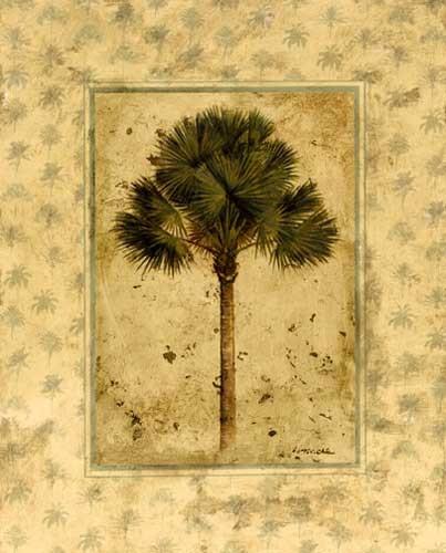 Elegante Palme Kunstdruck 20x25 cm