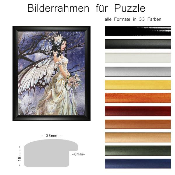 Bilderrahmen für Puzzle, Profil 35 mm aus MDF